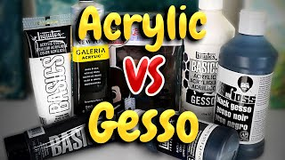 Acrylic Paint VS Gesso! Which Is Better For Prepping A Canvas?