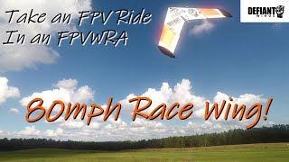 Take a Ride in a Race Wing! • Defiant Spec Wing FPV Practice
