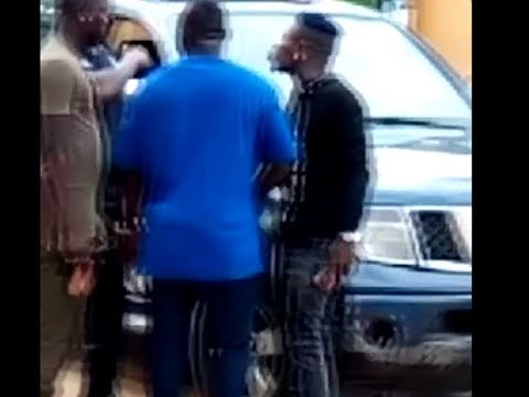 Video: Shatta Wale in HOT exchange of words with police officer