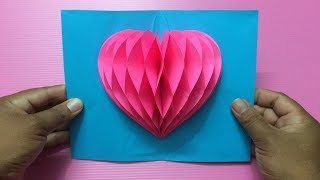 How To Make Heart Pop Up Card | Making Valentines Day Pop-Up Cards Step By Step | DIY-Paper Crafts