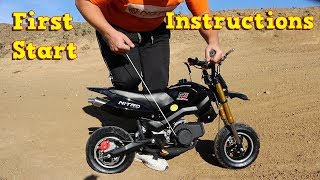 Pocket Bike 50cc - First Start Instructions - Mini Moto 49cc Hobbit Sport