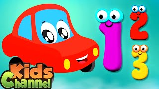 Numbers Song | Learning Videos for Children | Car Cartoon for Babies from Kids Channel