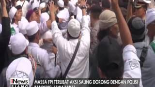Massa FPI Bersitegang Dan Ricuh Dengan Polisi Di Bandung  INews Siang 12/01