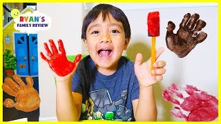 Finger painting for kids with Ryan