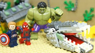 """LEGO Avengers IRON MAN SPIDER: HULK SMASH Scene """"I'm Always Angry"""""""