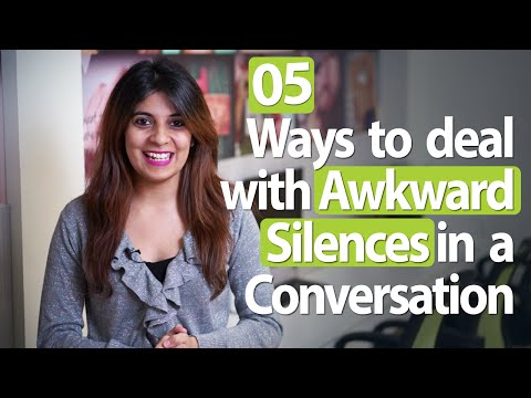5 tips to deal with awkward silence in a conversation - Improve your communication skills.