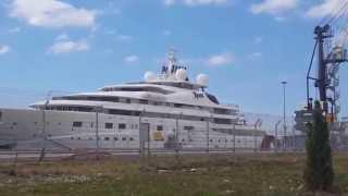 Сочи СЕГОДНЯ: Мега Яхта TOPAZ в порту Сочи! 147 метров роскоши...