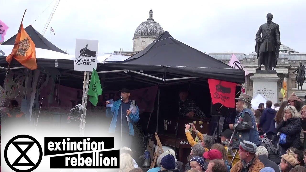 Writers Rebel in Trafalgar Square