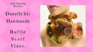 ADDI Express Ruffle Scarf BUTTONED NECK WARMER Knitting Crochet DIY 22 Pin Sentro Pattern