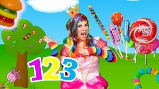 LEARN Numbers with Princess Lollipop by counting 1 to 10 with CANDY!