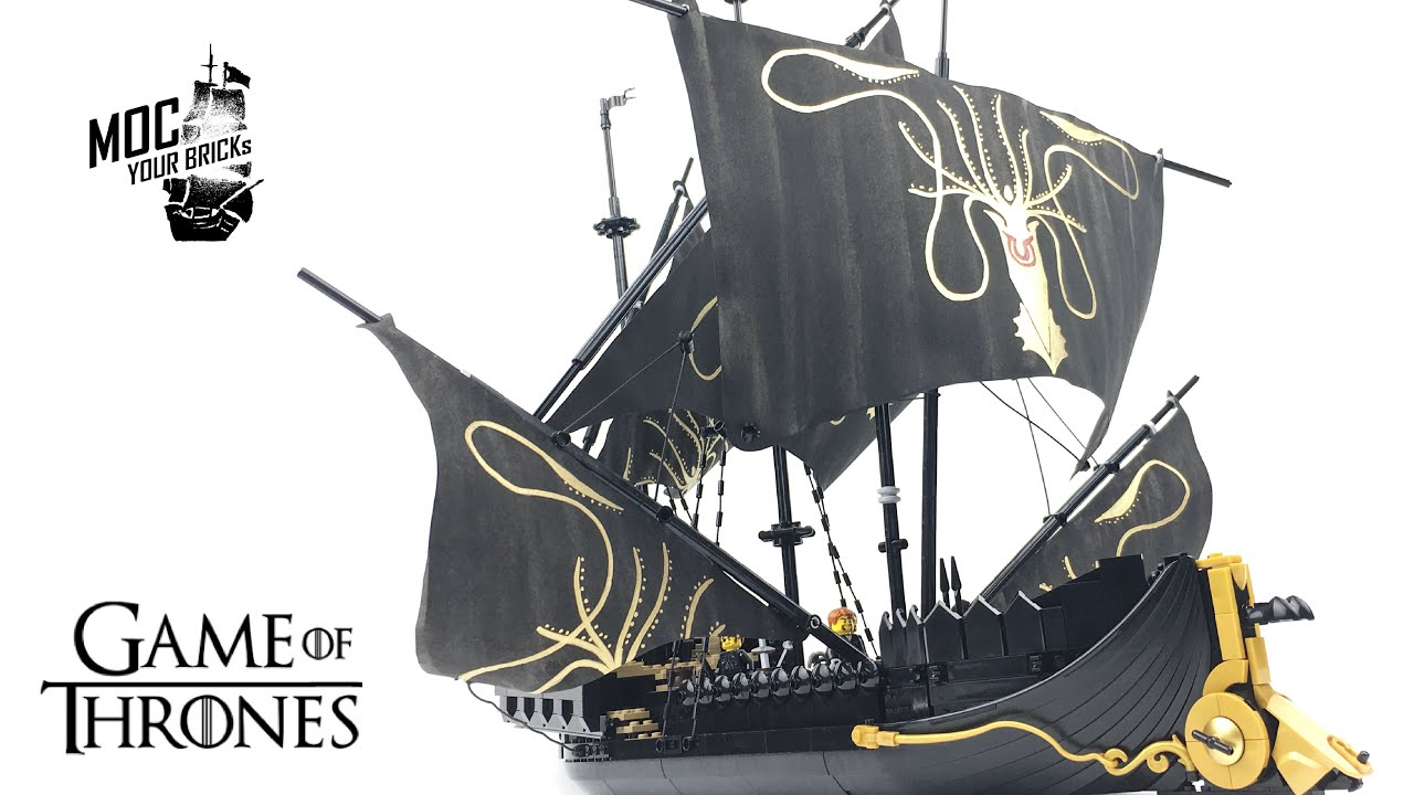 Lego pirate ship MOC : Silence, Euron Greyjoy's flagship, GOT 360 Degree.
