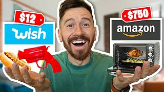 I Bought All The Food Gadgets On WISH and AMAZON!!