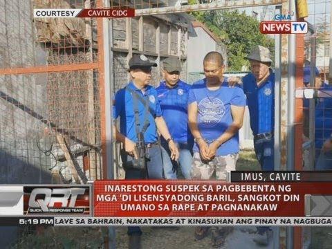 [GMA]  QRT: Inarestong suspek sa pagbebenta ng mga 'di lisensyadong baril…