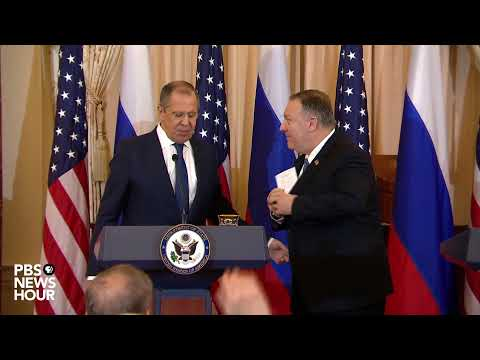 WATCH LIVE: Secretary of State Pompeo holds joint news conference with Russian foreign minister