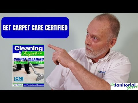 Be a certified carpet cleaner - YouTube