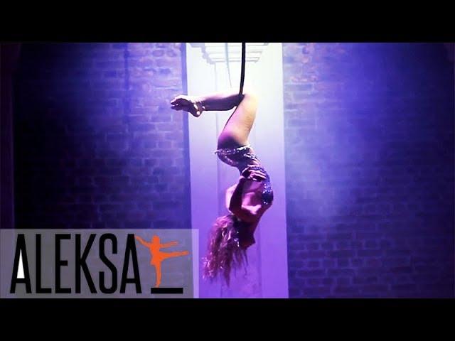 Танец в воздухе - воздушная гимнастика, воздушные полотна, воздушное кольцо. Таисия Жосан, ALEKSA