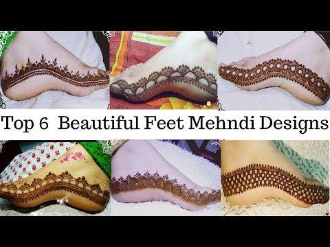Download Beautiful Feet Mehndi Design Top 6 Beautiful Feet Mehndi