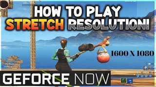 how to get stretched resolution in fortnite pc nvidia