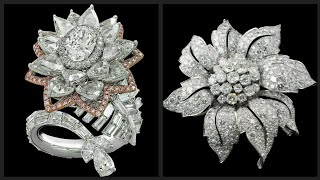 Beautiful And Antique Diamond Platinum Brooches  Designs For Wedding