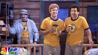 "Young Jimmy Fallon & Justin Timberlake Sing ""Ironic"" at Camp Winnipesaukee"