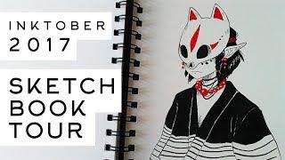 Inktober Sketchbook Tour 2017 - My First Inktober