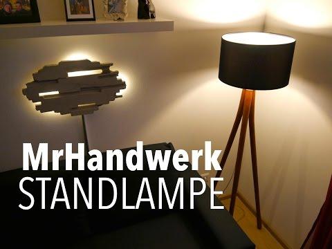 DIY Lampe aus Schaufelstielen bauen Anleitung ★MrHandwerk ★