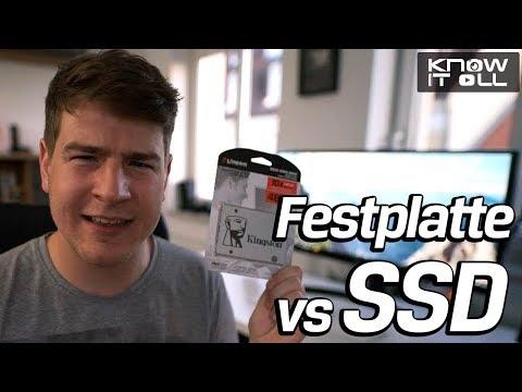 PC schneller starten - Geschwindigkeitstest mit Festplatte vs SSD - Kingston UV400