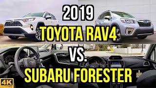 FAMILY FACEOFF -- 2019 Toyota RAV4 Limited vs. 2019 Subaru Forester Touring: Comparison