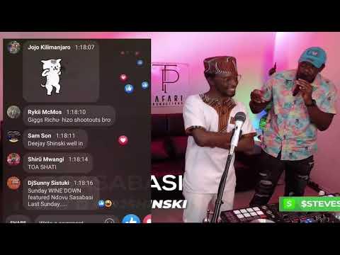Dj Shinski and Sasabasi Quarantine Live Performance on 254 Diaspora djs