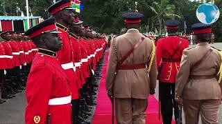 Uhuru receives Prime Minister of Barbados at State House
