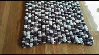 How to knit a baby blanket with Zarela Baby Pompom yarn | Zarela Yarns