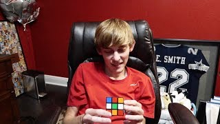 Logan Solves Rubiks Cube in UNDER 1 MINUTE!