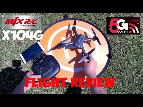 MJX/RC X104G GPS DRONE FLIGHT TEST REVIEW Courtesy of Banggood