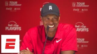Tiger Woods Tour Championship press conference after first victory since 2013  | ESPN | Kholo.pk