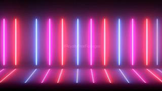 Neon Multicolored lines Background Looped Animation HD | Neon lights motion background, Free Footage
