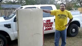 www.JunkGuysAustin.com  Fridge or Freezer Removal or Disposal Texas Austin