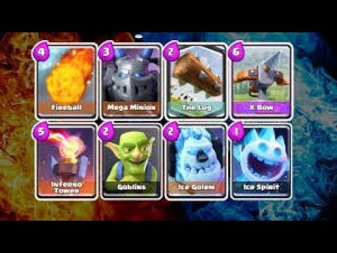 Clash Royale Deck 3 1 Elixir | ICE WIZARD | MEGA MINION