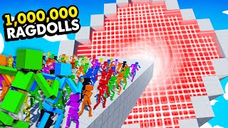 1,000,000 RAGDOLLS vs IMPOSSIBLE LASER DROPPER (Fun With Ragdolls: The Game Funny Gameplay)