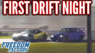 FIRST DRIFT NIGHT! - FREEDOM FACTORY VS. C6 Z06 CORVETTE!