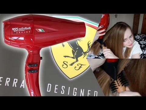 Babyliss Pro Volare Ferrari Dryer V1 - REVIEW & DEMO!