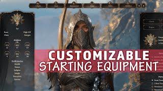 Customizable Starting Equipment