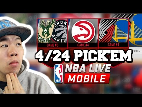 April 24 Pick'em Predictions- Golden State with the Sweep? -Nba Live Mobile