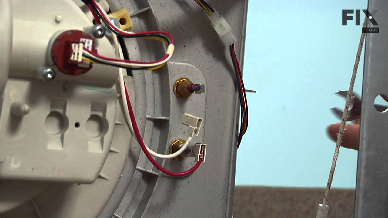 Replacing your Frigidaire Dishwasher Heating Element Brass Nut