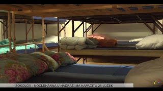 Sokolov: Noclehárna poskytne spaní pro 26 lidí bez domova (TV Západ)