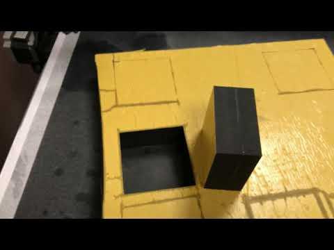 Раскрой EVA толщиной 60мм на планшетном плоттере