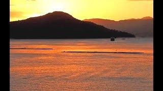 瀬戸内海の夕暮れ時広島県安芸郡坂町からの風景