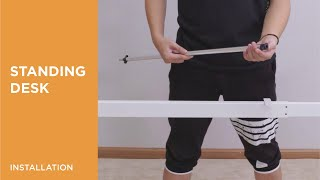 How to Install 2-Stage Reverse Manual Sit-Stand Desk Frame- N02-22R