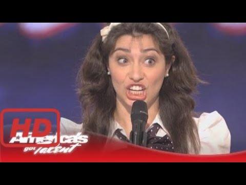 America's Got Talent Auditions Celebrity Impressions - Melissa Villasenor - America's Got Talent Au