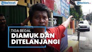 Todong Warga Pakai Celurit, 3 Begal di Cibubur Diamuk Massa hingga 1 Pelaku Nyaris Ditelanjangi