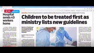 Children to be treated first as ministry lists new guidelines | Press Review